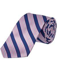 Ike Behar - Blue & Pink Stripe Silk Tie - Lyst