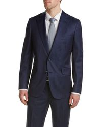 Robert Graham - Sandston Wool Suit With Flat Front Pant - Lyst