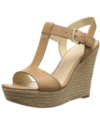 c31d066ff82 Lyst - Marc Fisher Hillory Women Open Toe Suede Black Wedge Sandal ...