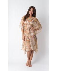 Yuka Beach - Knee Length Moroccan Style Cover Up - Lyst