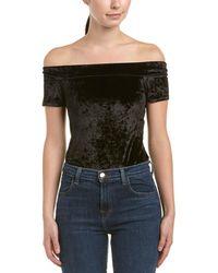 BCBGeneration - Off-the-shoulder Velvet Bodysuit - Lyst