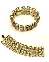Otazu - Four Row Cupchain Swarovski Crystal Bracelet - Lyst