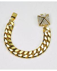 Otazu - Swarovski Crystal Pyramid Bracelet - Lyst