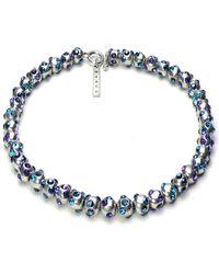 Otazu - Shades Of Blue Swarovski Crystal Ball Necklace - Lyst