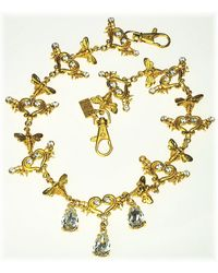 Otazu - Bees And Angel Wing Hearts Necklace - Lyst