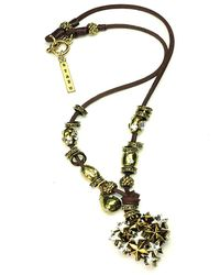 Otazu - Hearts In Heart Swarovski Crystal Necklace - Lyst