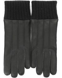 Ferragamo - Men's Black Leather Gloves - Lyst