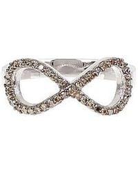 Vanhi - 14k White Gold Diamond Infinity Ring - 0.32 Ctw - Lyst