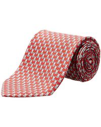 Ferragamo - Red Bunnies Silk Tie - Lyst
