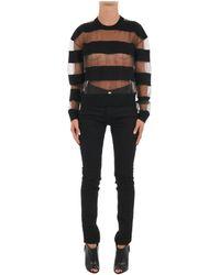 Alexander McQueen - Women's 417274rhk071000 Black Wool Jumper - Lyst
