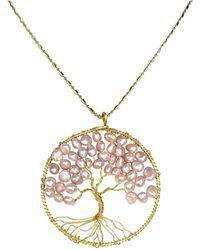 Aeravida | Eternal Tree Of Life Brass Long Necklace | Lyst