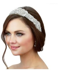 Kristin Perry - Beaded Crystals Headpiece - Lyst