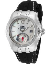 Elini Barokas - Genesis Vision Black Silicone White Mother Of Pearl Dial - Lyst