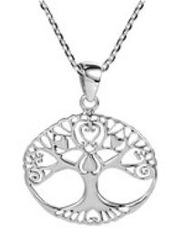 Aeravida - Flourishing Love Swirl Heart Tree Of Life Sterling Silver Necklace - Lyst
