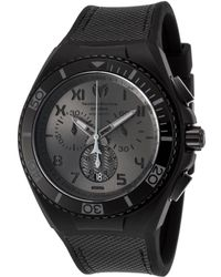 TechnoMarine - Men's Cruise Calif. Chrono Black Silicone And Canvas Charcoal Dial - Lyst