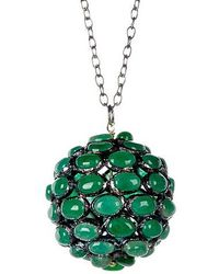 Vanhi - Natural Emerald Pendant Necklace - Lyst