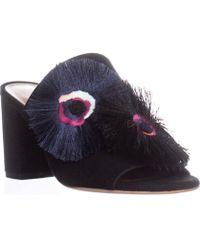 Loeffler Randall - Clo Block Heel Mule Sandals, Black/floral - Lyst