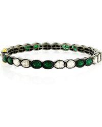 Socheec - Emerald And Diamond Bracelet - Lyst