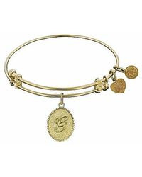 Angelica - Initial Bangle- G - Lyst