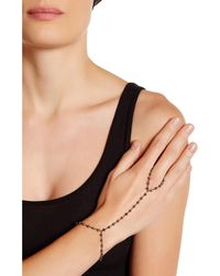 Adornia - Pyrite And Sterling Silver Rosary Bead Handchain - Lyst