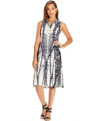 Meredith Banzhoff - Olivia Fit And Flare Shirt Dress - Lyst