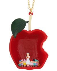 Les Nereides - Snow White And The 7 Dwarfs At The Heart Of The Poisoned Apple Long Necklace - Lyst