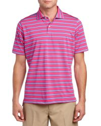 Fairway & Greene - Turnbull Stripe Tech Jersey Polo Shirt - Lyst