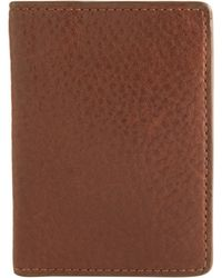 Trafalgar - Pebbled Leather Extension Clip Wallet - Lyst