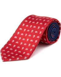 Tommy Hilfiger - Linen Flower Dot Tie - Lyst