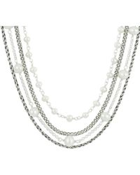 Baroni - Madison Silver 4-6mm Pearl Necklace - Lyst