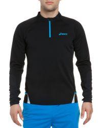 Asics - Fuji Black 1/2-zip Pullover - Lyst