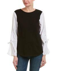Kensie - Contrast Sleeve Sweatshirt - Lyst