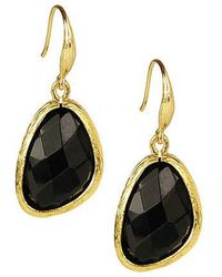 Saachi | Black Gold Earring | Lyst