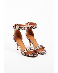 """Givenchy - Multicolor Leather """"infinity"""" Ankle Strap Sandals - Lyst"""