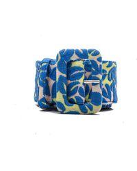 Miu Miu - Women's Floral Pattern Fabric Belt Blue - Lyst