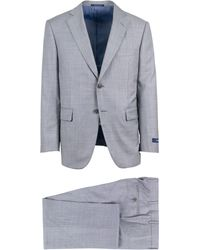 Pal Zileri - Grey Wool Two Button Suit - Lyst