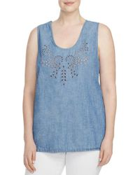 Lucky Brand - Womens Plus Eyelet Scoop Neck Tank Top - Lyst
