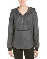 Karen Millen - Side-zip Wool-blend Kagool - Lyst