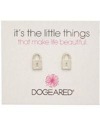 Dogeared - It's The Little Things Locket 14k Over Silver Earrings - Lyst