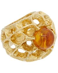 Baccarat - Merveille 18k Over Silver Vermeil Crystal Small Ring - Lyst