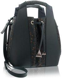 Nada Sawaya - Leah - Large Laser-cut Leather Bucket Bag - Lyst