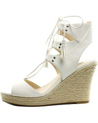 Guess - Womens Lamba3 Open Toe Special Occasion Platform Sandals - Lyst