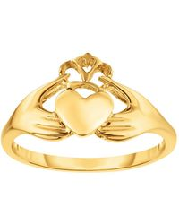 Jewelry Affairs - 14k Yellow Gold Claddagh Ring, Size 7 - Lyst
