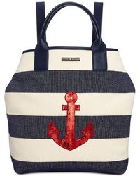Tommy Hilfiger - Womens Aurora Woven Sequined Backpack - Lyst