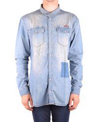 Frankie Morello - Men's Light Blue Cotton Shirt - Lyst