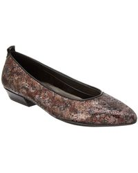 The Flexx - The Musee Leather Flat - Lyst