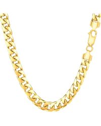 Jewelry Affairs - 14k Yellow Gold Miami Cuban Link Chain Necklace, Width 5.8mm, 30 Inch - Lyst