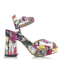 Charlotte Olympia - Women's Multicolor Leather Sandals - Lyst