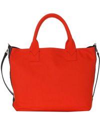 Pinko - Women's Orange Cotton Tote - Lyst