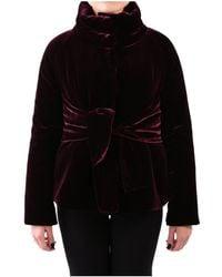 Aspesi - Women's Burgundy Viscose Jacket - Lyst